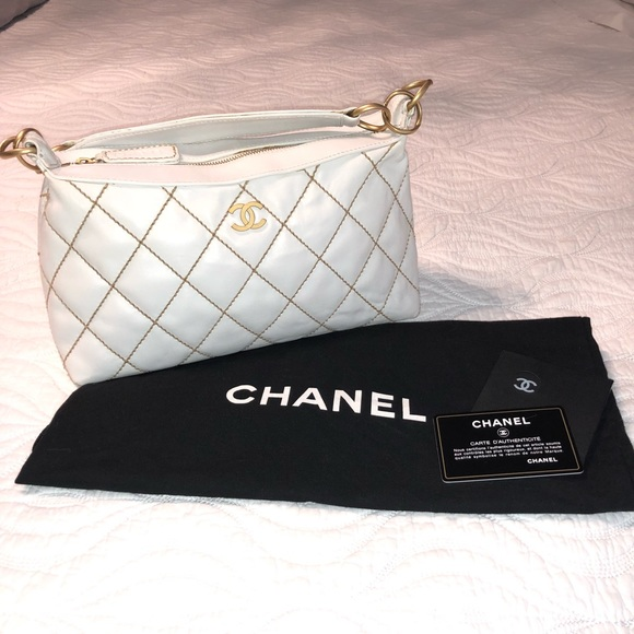 739ce64fd0b2 CHANEL Bags | White Wild Stitch Quilted Leather | Poshmark
